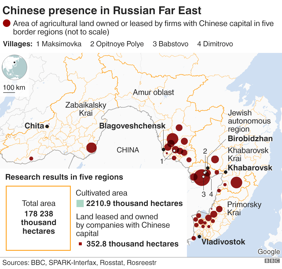 Chinese presence in Russia's Far East graphic