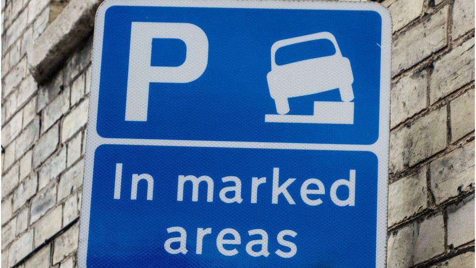 A car parking sign