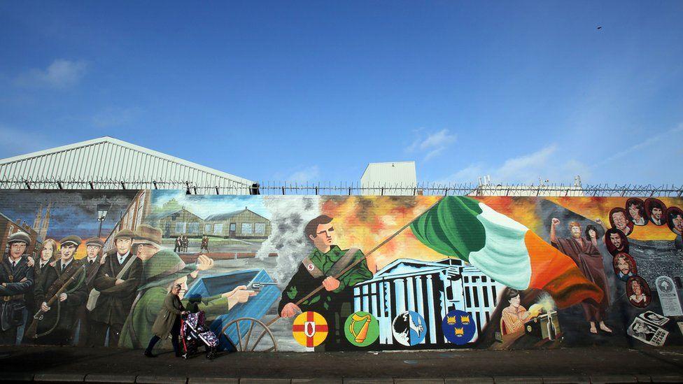Murals on Belfast's Falls Road