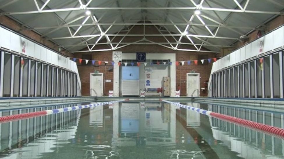 Interior of the baths in Reading
