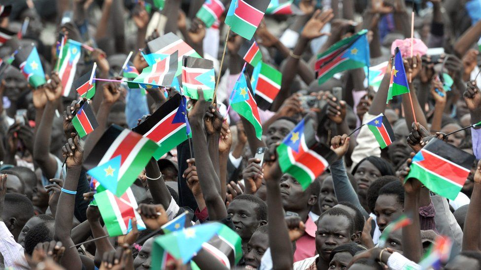 South Sudanese celebrate independence on 9 July 2011