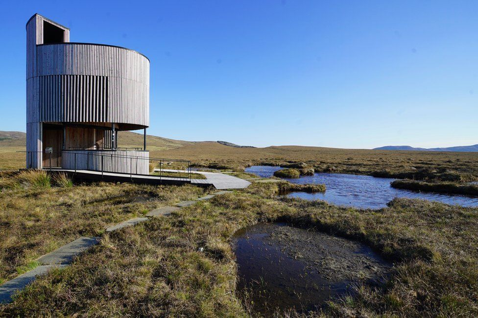 The RSPB has built a field centre and observation tower at Forsinard