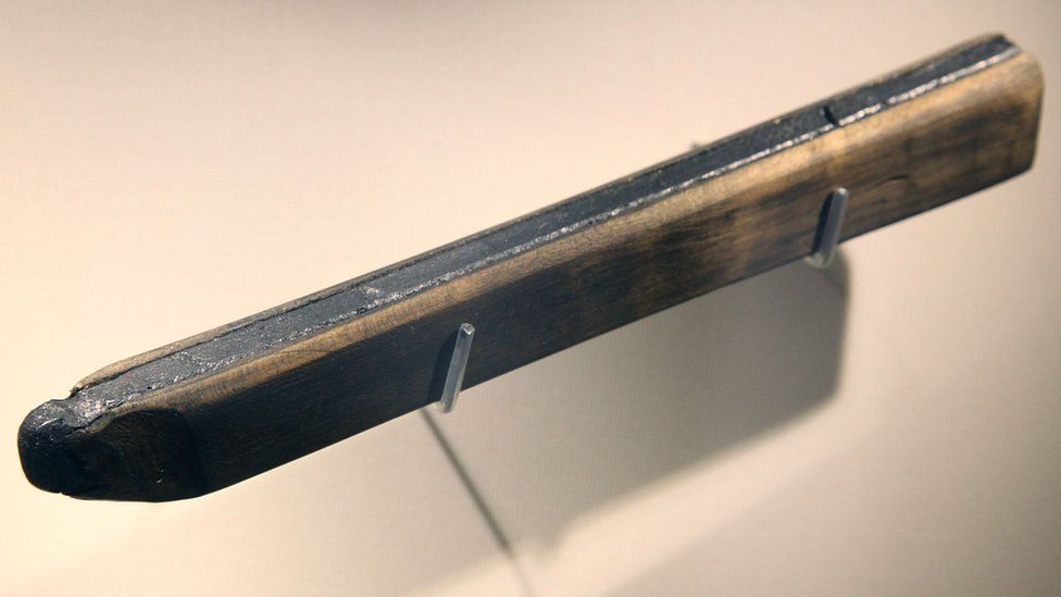 The oldest known pencil in the world, from the collection of Faber-Castell
