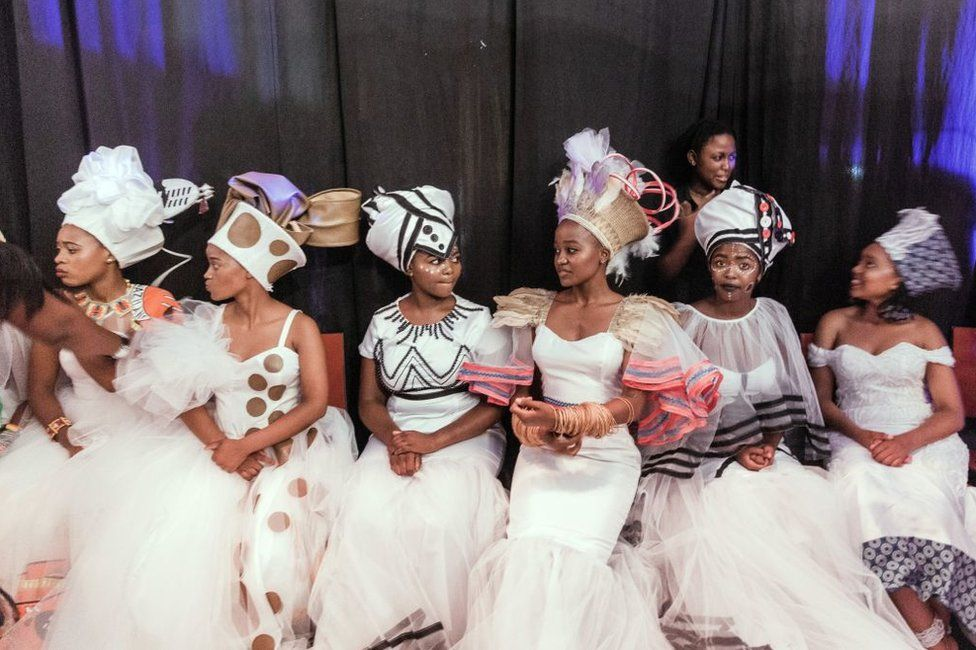 Traditionally clad queens from various provinces of South Africa take part in the Miss Indoni SA section of the three-day Indoni Cultural Festival.