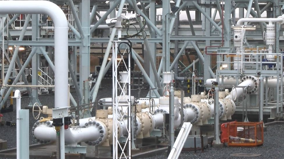 Gas plant pipes
