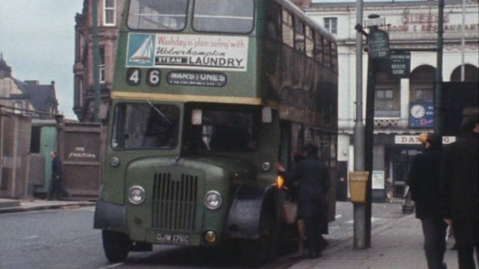 Wolverhampton bus in the 1960s