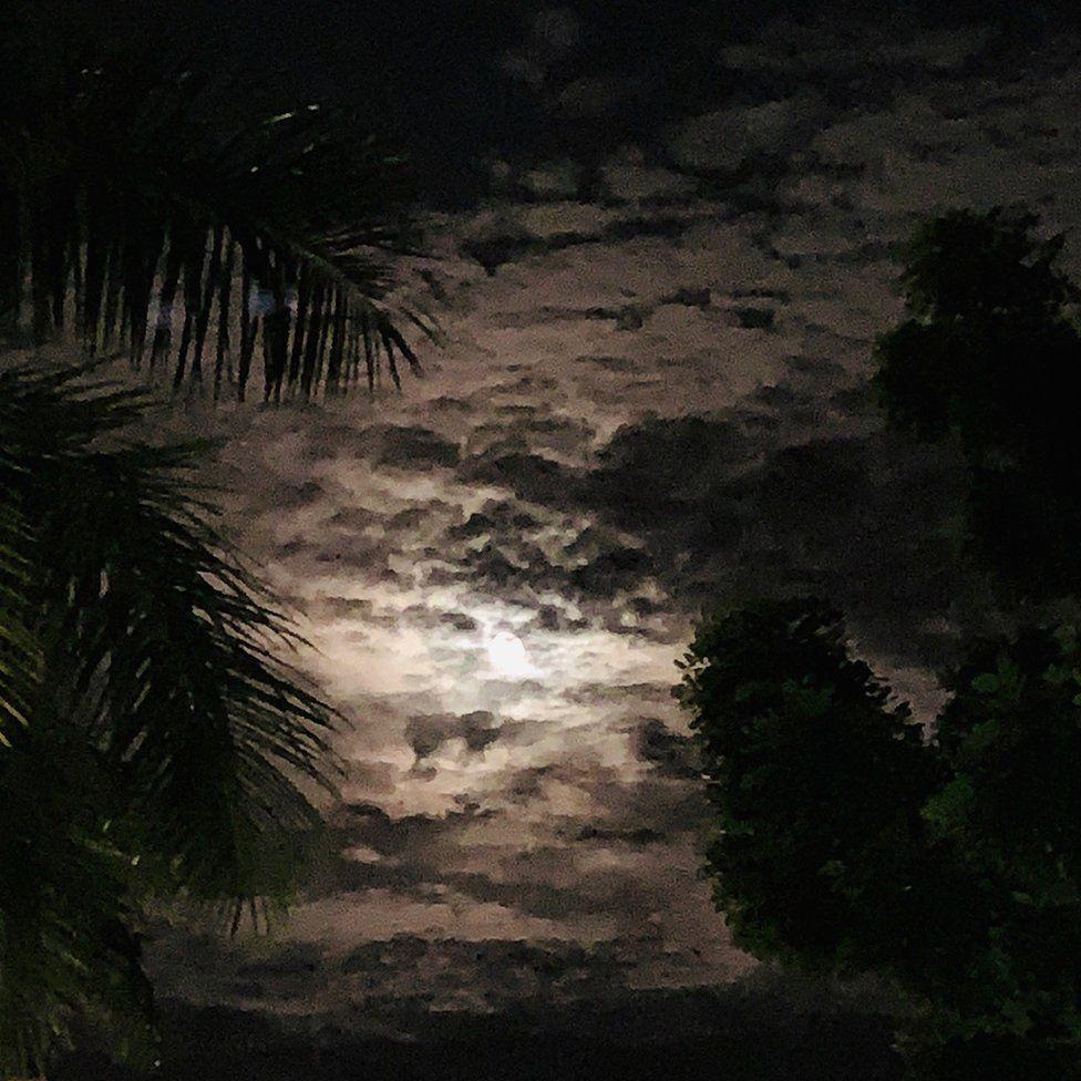 Night sky in Panama City