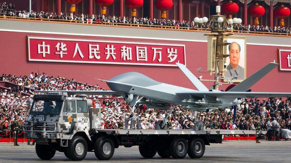 Armamento en el desfile militar de Pekín, 1 de octubre de 2019.