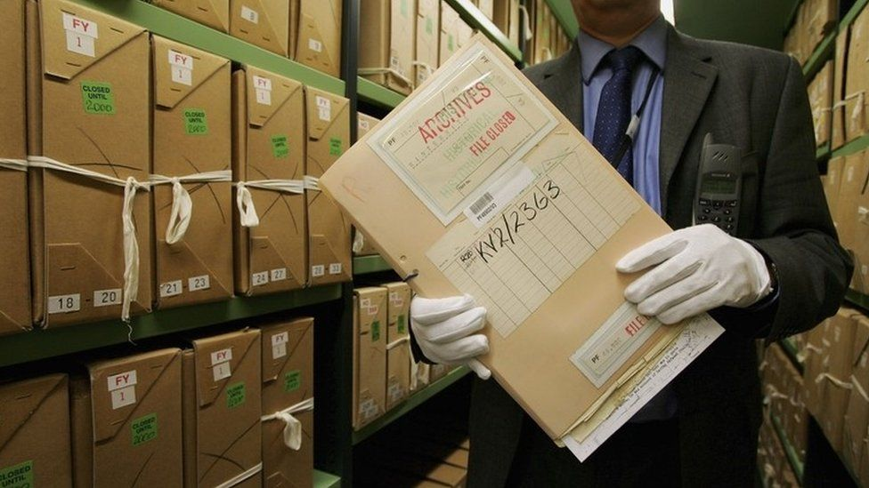 Files in the National Archives at Kew