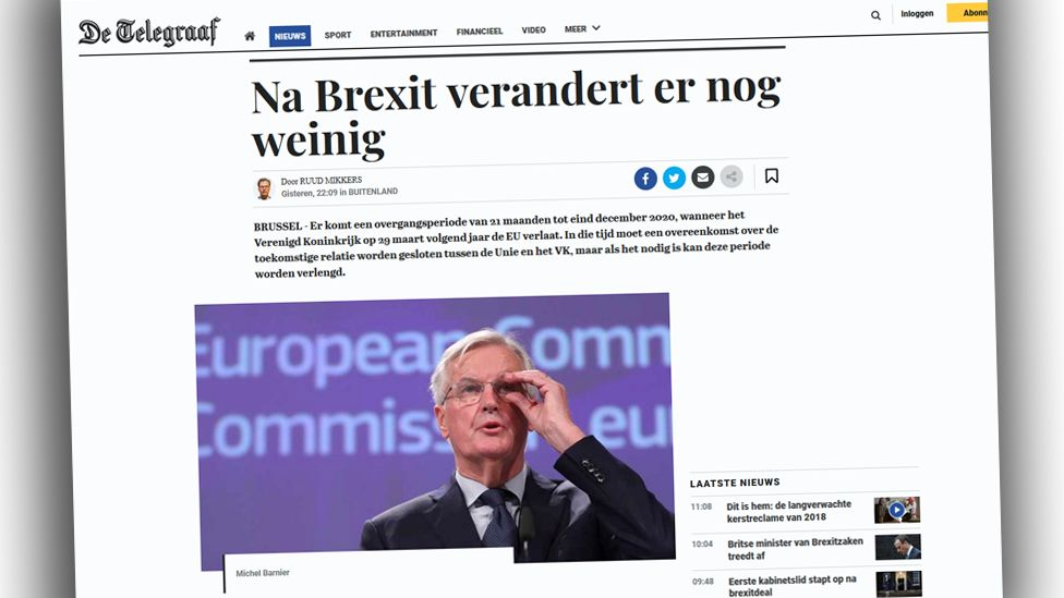Screengrab from De Telegraaf