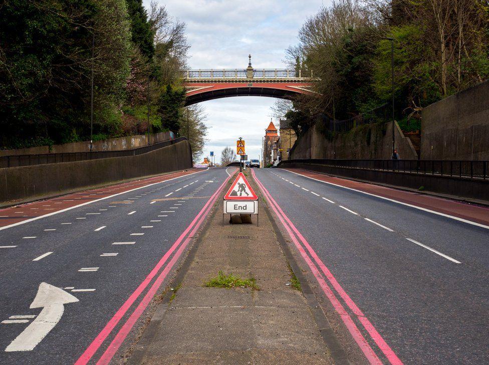 View north towards Hornsey Lane Bridge. Archway, London.
