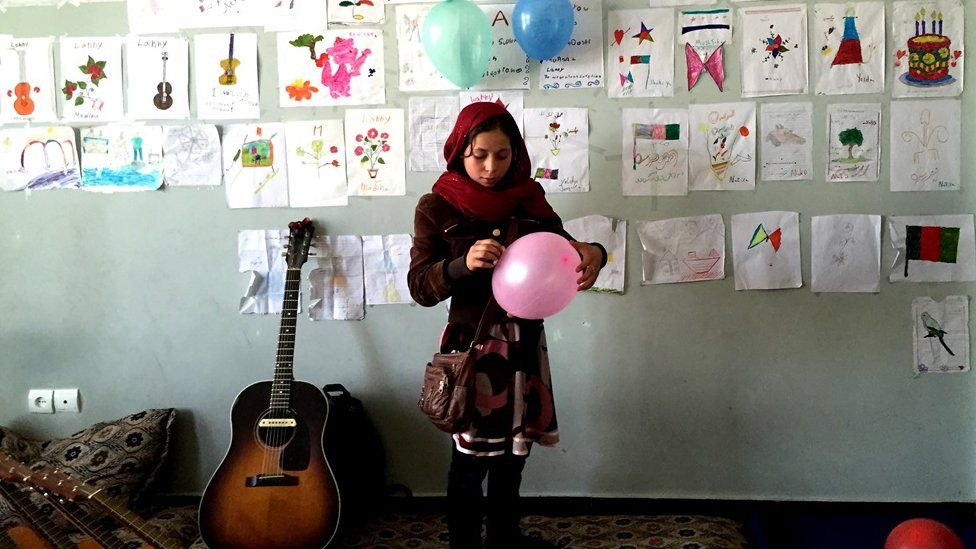 Mursal, one of around 50 children involved in the 'Love kids' project