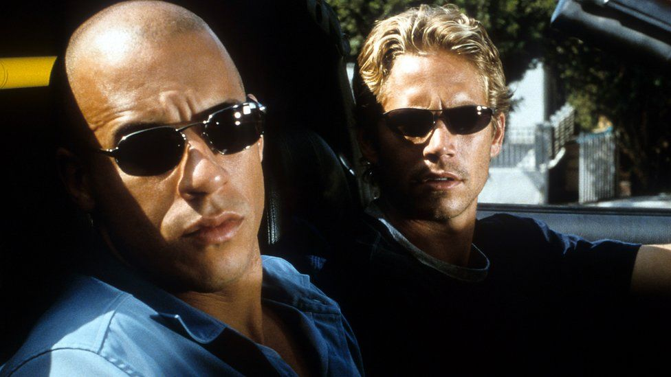 Vin Diesel and Paul Walker in The Fast and the Furious from 2001