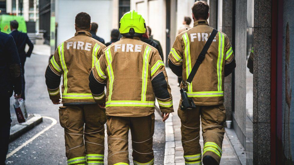 Firefighters in London