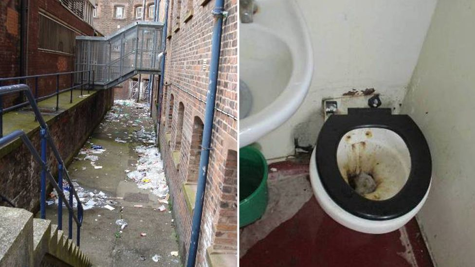 Liverpool jail litter and toilet