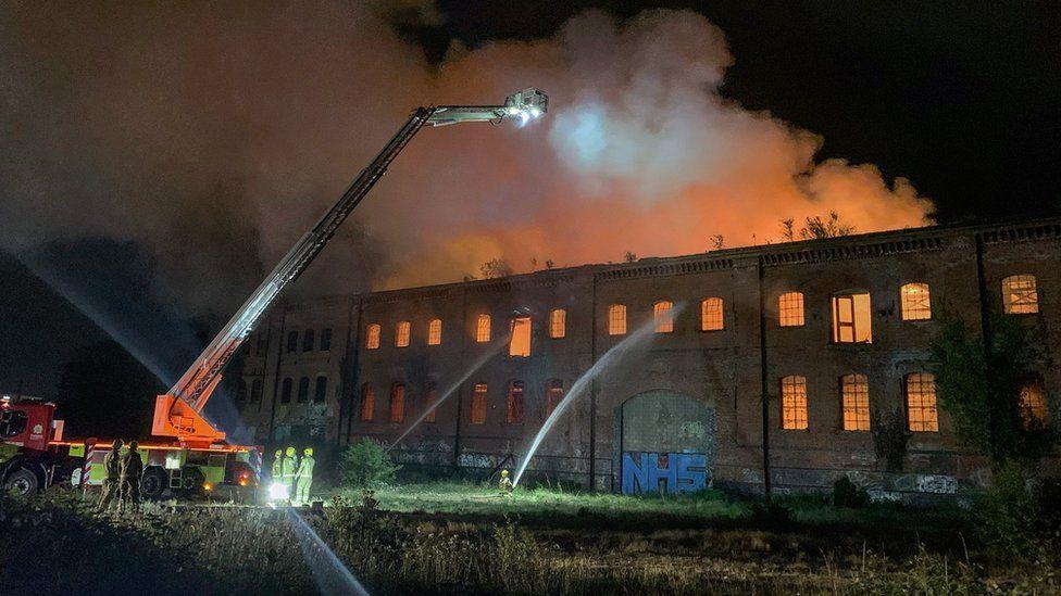 Derelict building fire