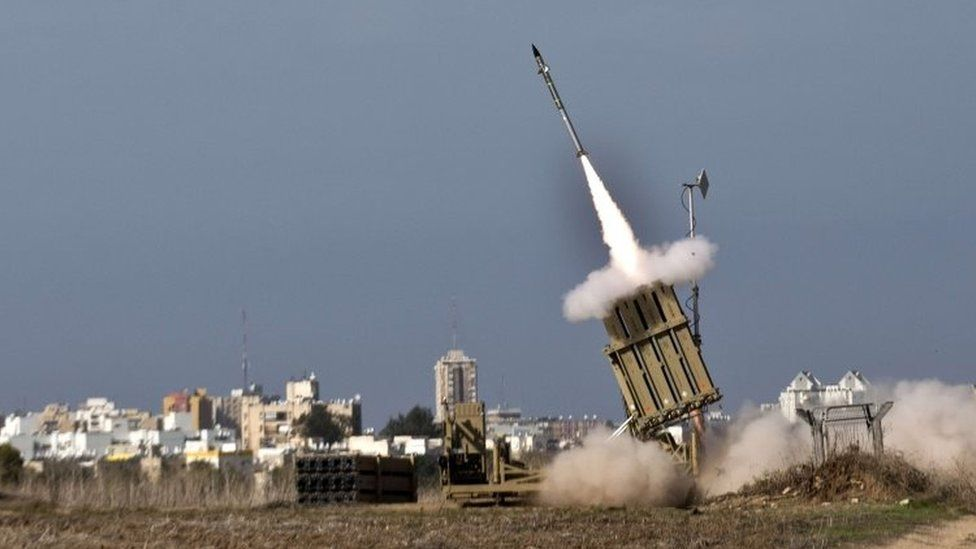 An Israeli missile launched from Iron Dome system in 2012