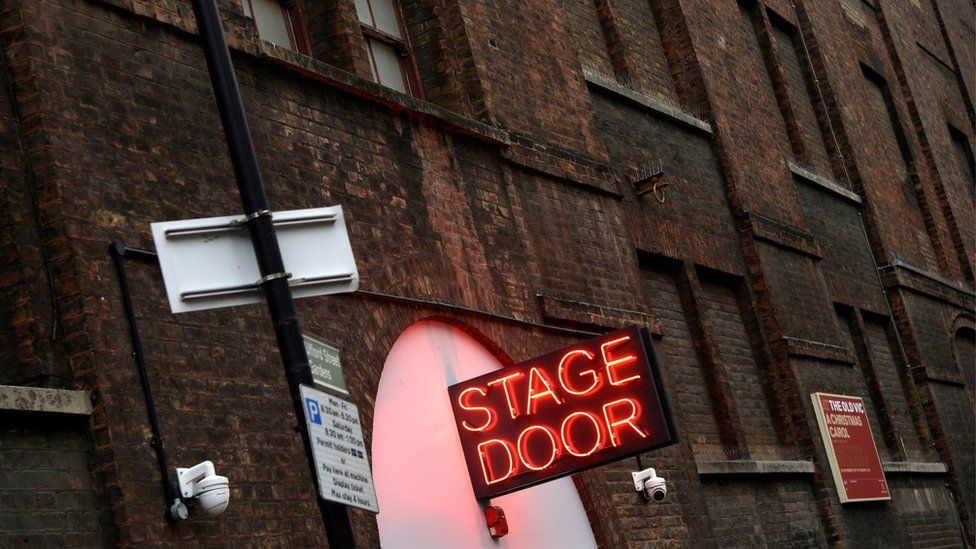Stage door at the Old Vic in London