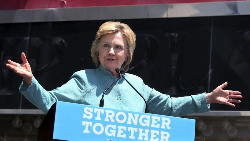 Hillary Clinton yn annerch