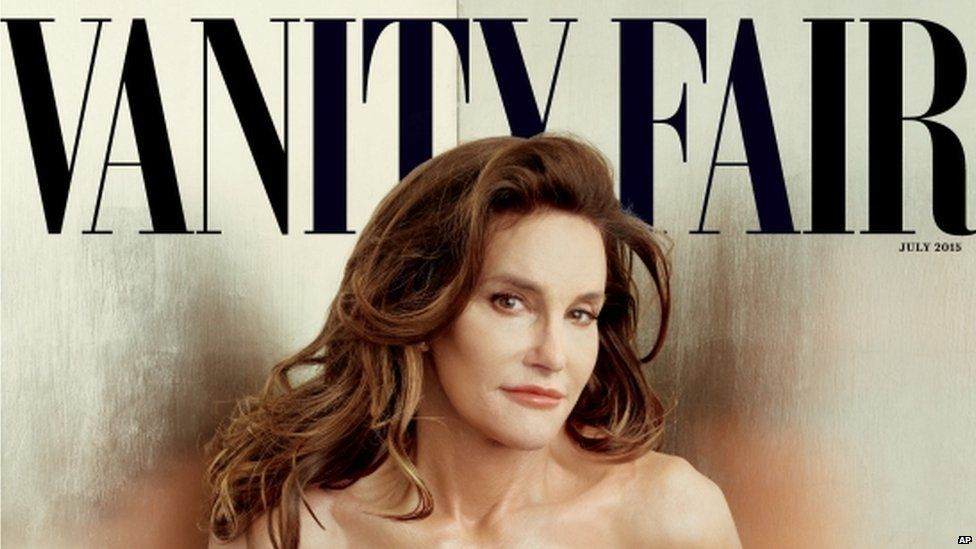 Cover of Vanity Fair's July 2015 issue featuring Bruce Jenner debuting as a transgender woman named Caitlyn Jenner taken on 1 June 2015
