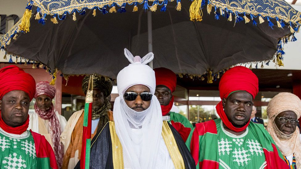 The Emir of Kano (in white) and his royal guards - 2017