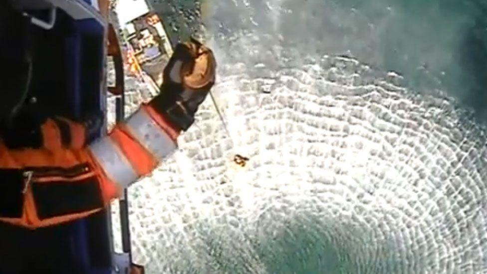 Rescue of fisherman on Loch Hourn