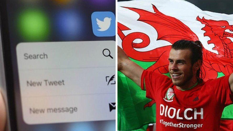 Mobile phone a Gareth Bale