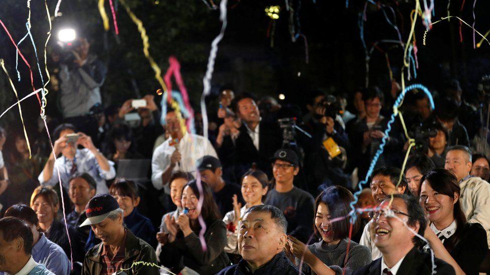 Fans in Tokyo