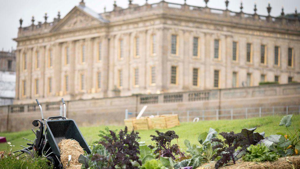 A garden near Chatsworth House