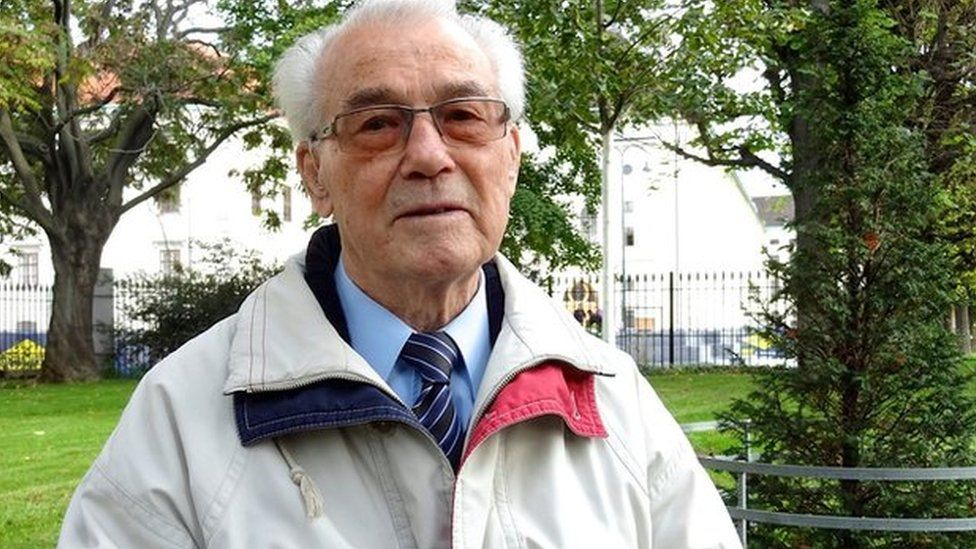Richard Wadani, now 92, who deserted the Wehrmacht
