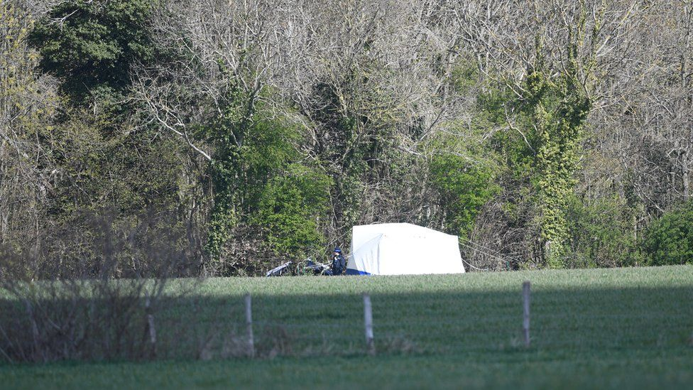 A police tent erected near the search