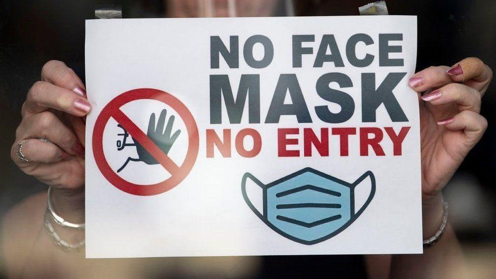Covid masks sign