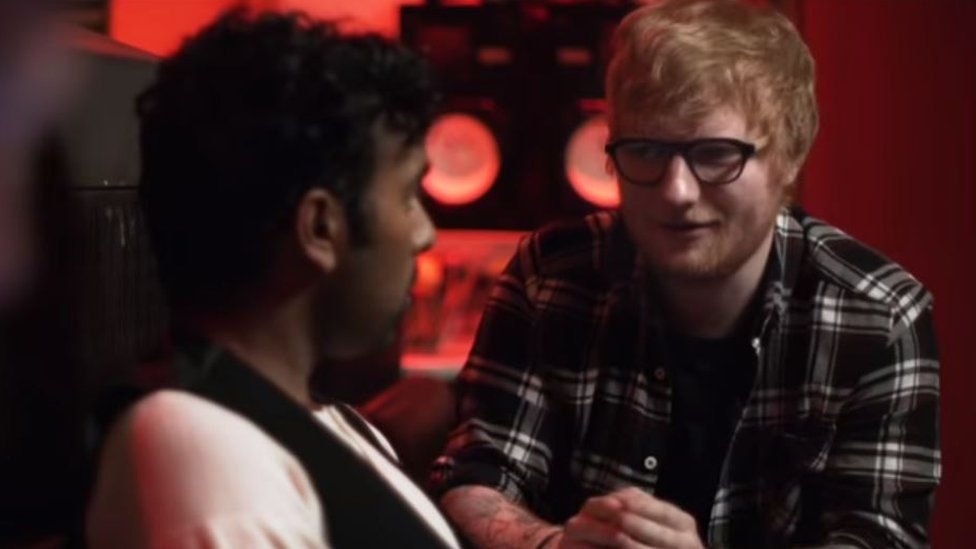 Ed Sheeran and Himesh Patel