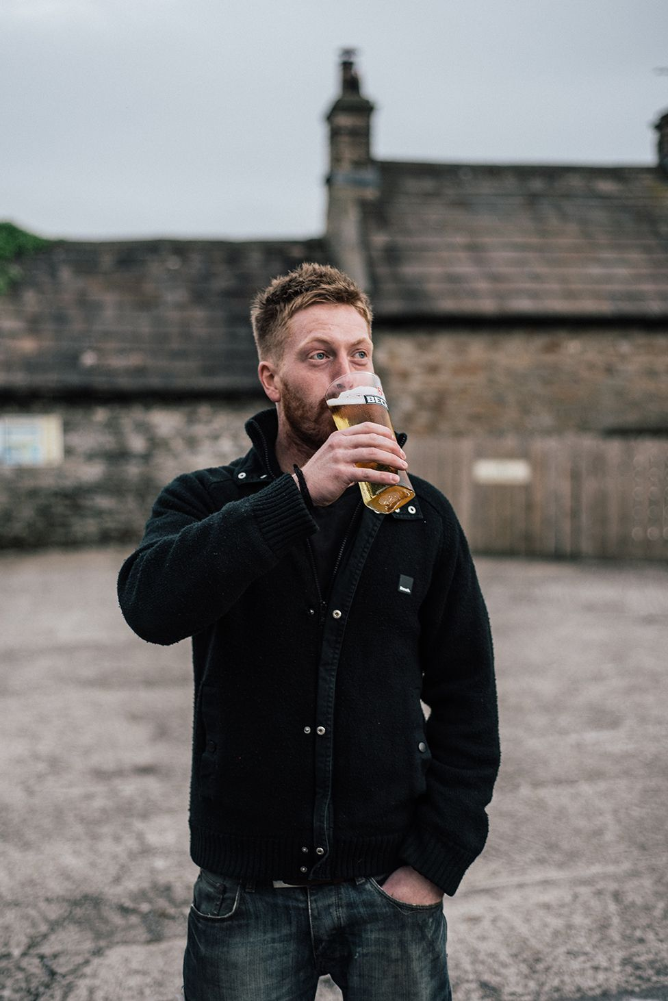 Farmer Jonny Spink was out at his local The Three Horseshoes in Wensley.
