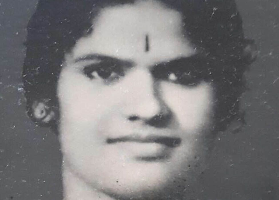 Megha Mohan's grandmother as a younger woman