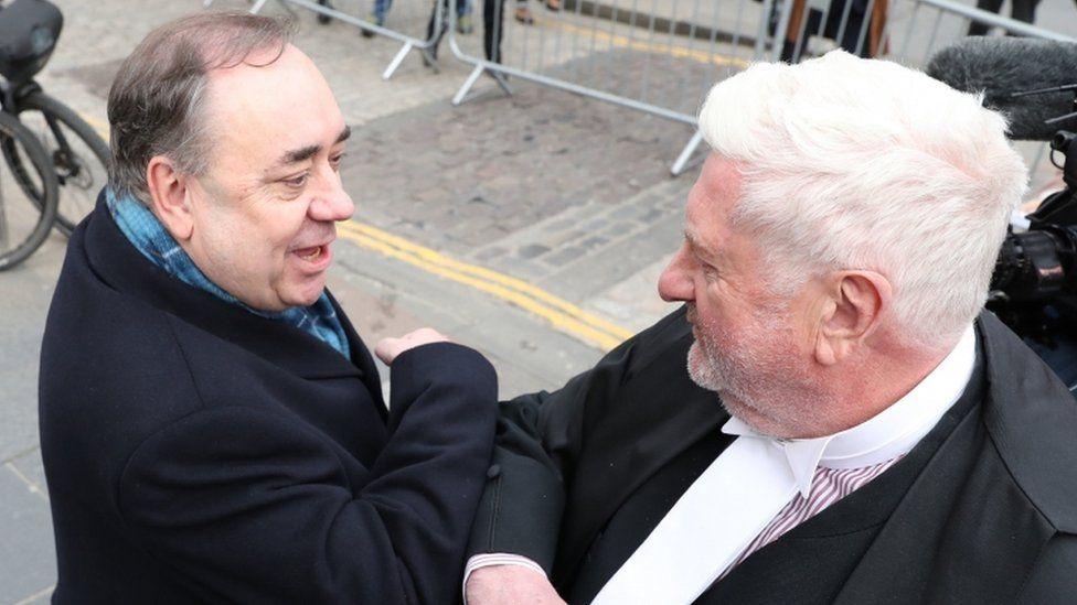 Alex Salmond and Gordon Jackson