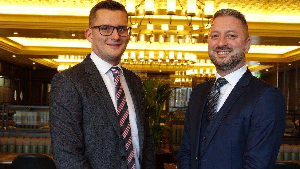 Graham Usher (right) and partner Matt Rose (left)
