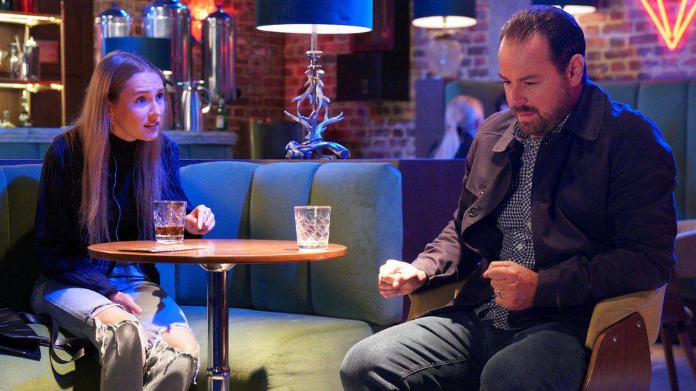 Rose Ayling-Ellis and Danny Dyer in EastEnders