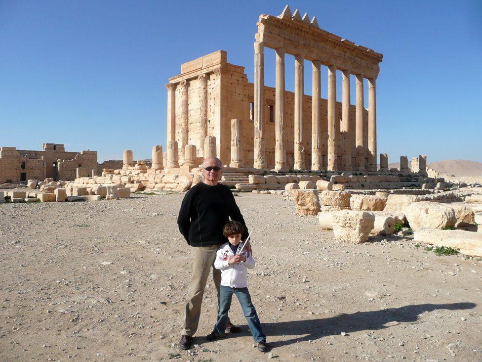 Nasser Rabbat at the Temple of Bel