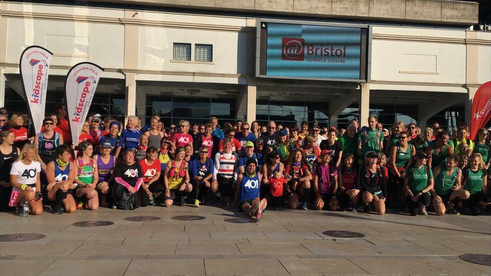 About 350 runners will be accompanying Ben Smith on his 401st marathon from Bristol to Portishead and back