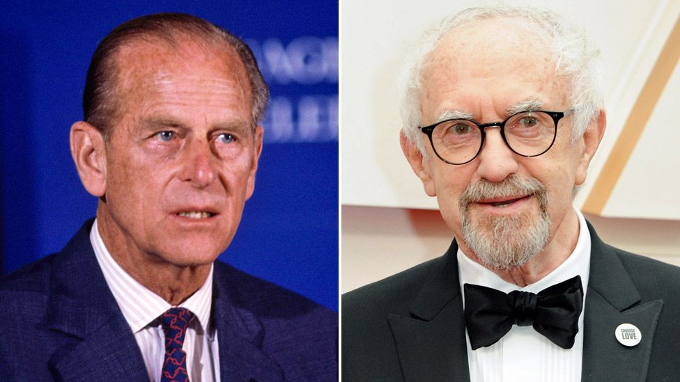 Prince Philip (left) and Jonathan Pryce