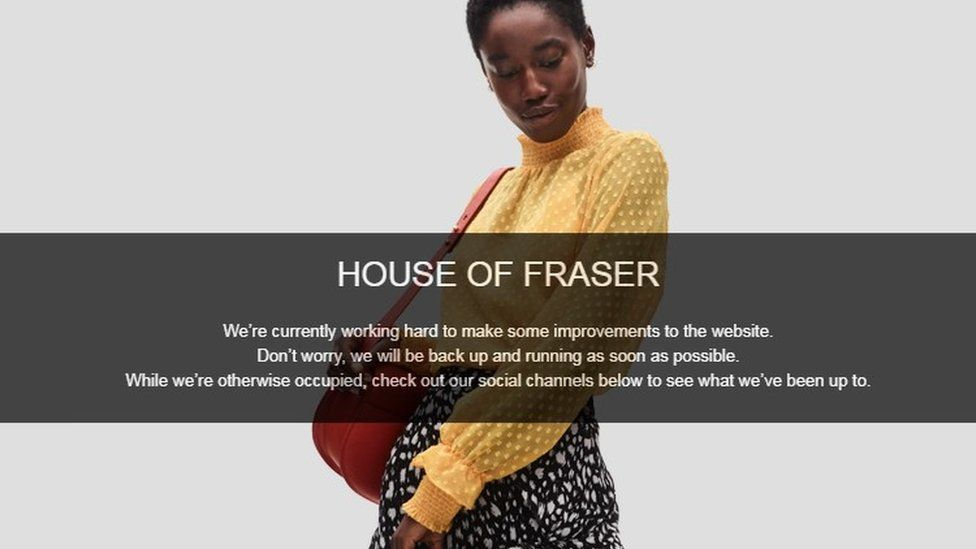 House of Fraser website
