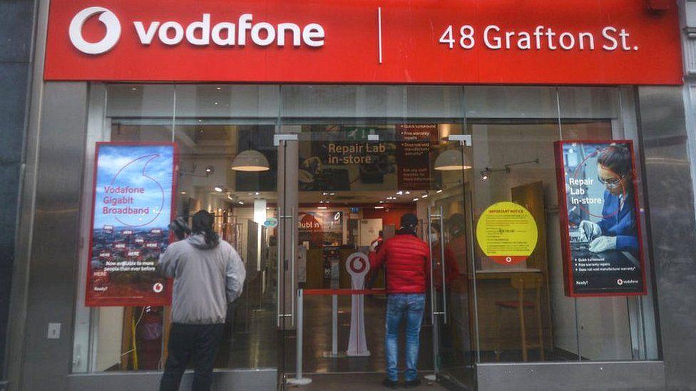 A Vodafone store in Dublin, Ireland