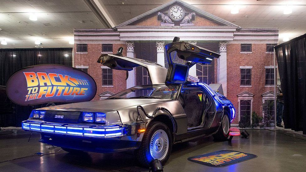 A DeLorean at the 2016 Comic-Con in Los Angeles