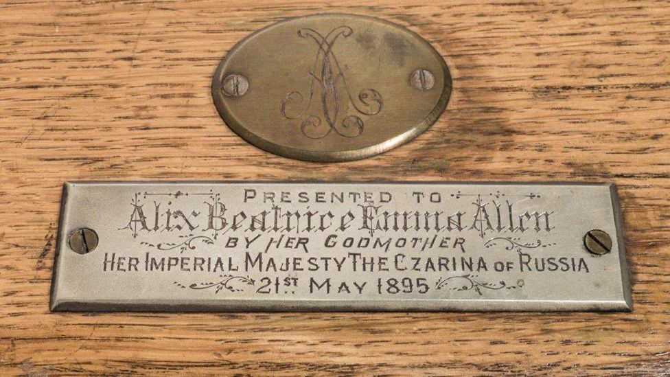 Name plate on box