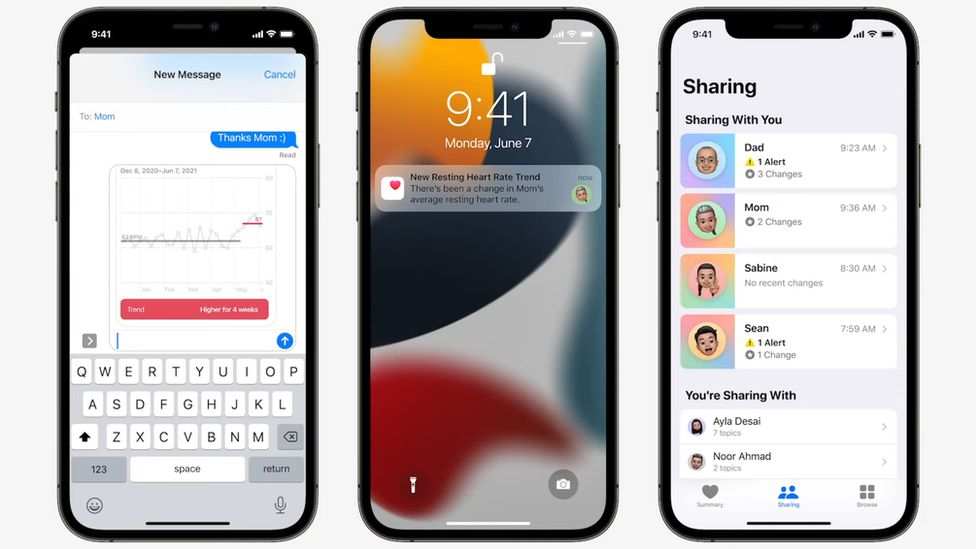 Sharing health data of family members is one new feature coming to Apple health