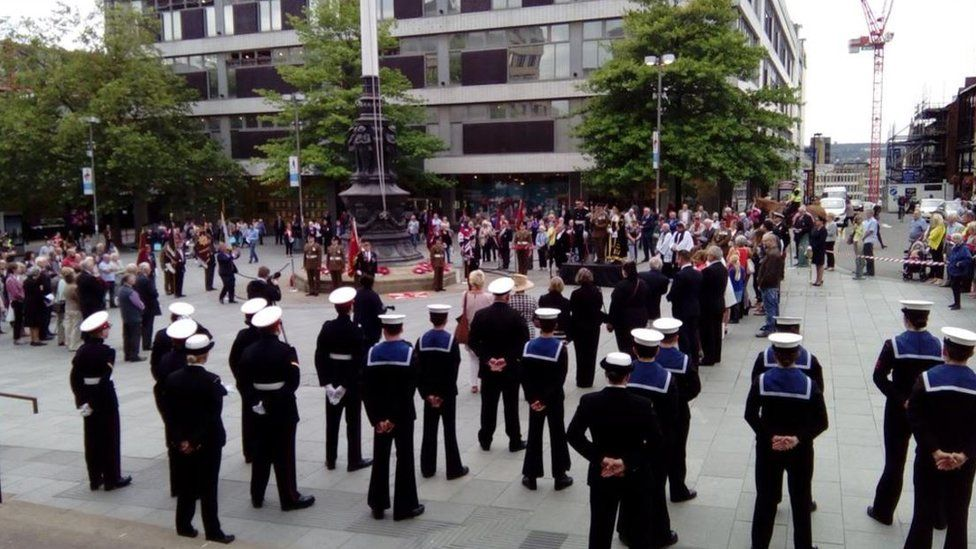 The ceremony in Sheffield