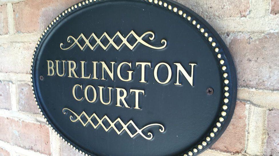 Burlington Court sign
