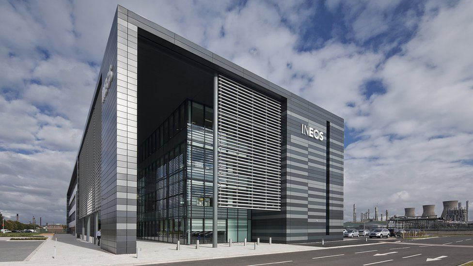 """Ineos headquarters at Grangemouth was said to be an """"understated, elegant building"""""""