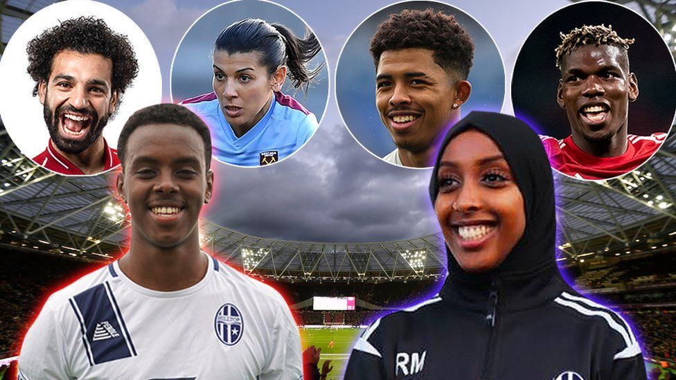 Composite image of contributors and footballers